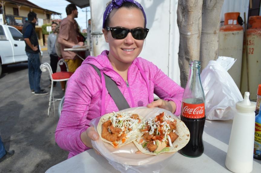 Shrimp tacos a la Street.