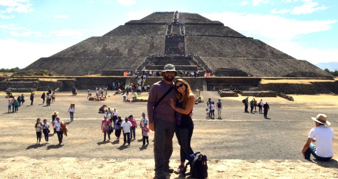 Teotihuacan, our first Pyramids and ruins.